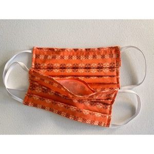 Set of Two Handmade Face Mask with Filter Pocket